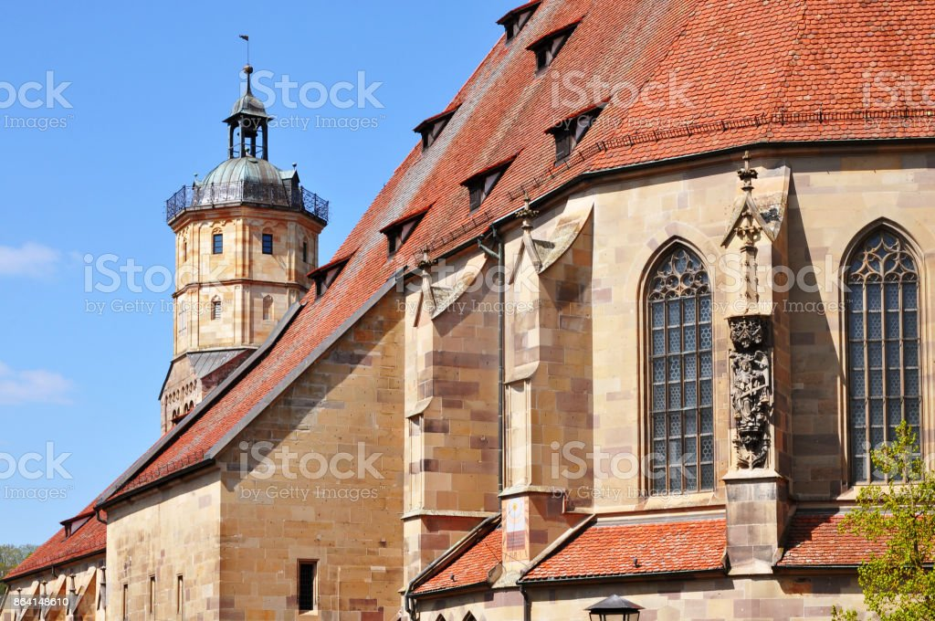 Gothic church of St. Michael. in Schwabisch Hall. royalty-free stock photo