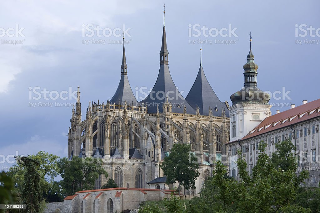 Gothic church stock photo