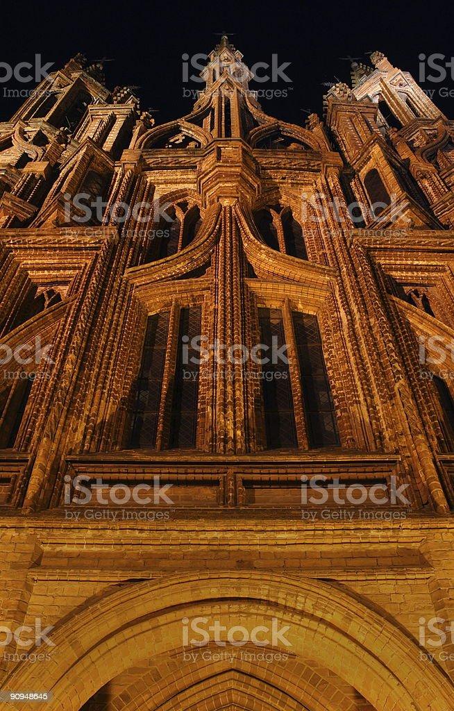 Gothic churche stock photo
