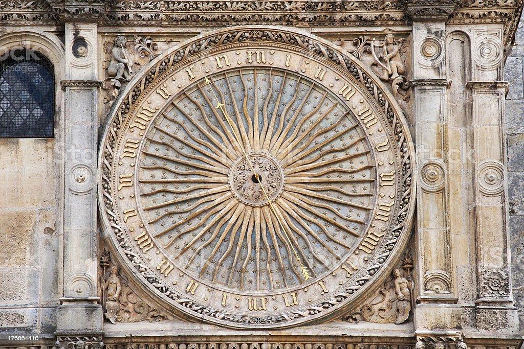 Gothic clock stock photo