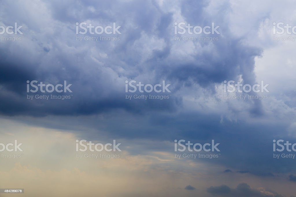 Gothic clouds, bad weather, stock photo