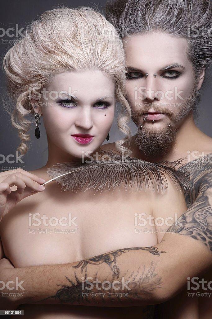Gothic couple royalty-free stock photo