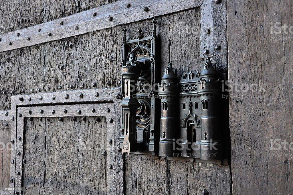 Gothic door handle royalty-free stock photo