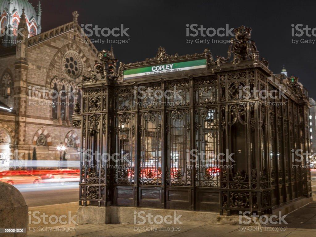 Gothic entrance stock photo