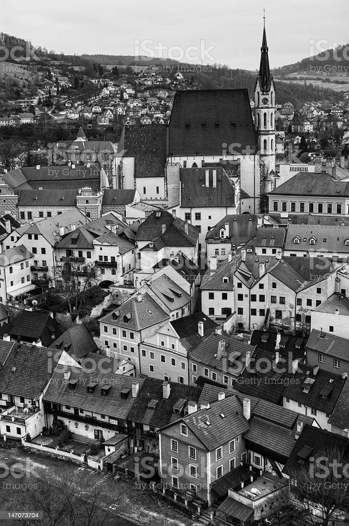 Gothic european town royalty-free stock photo