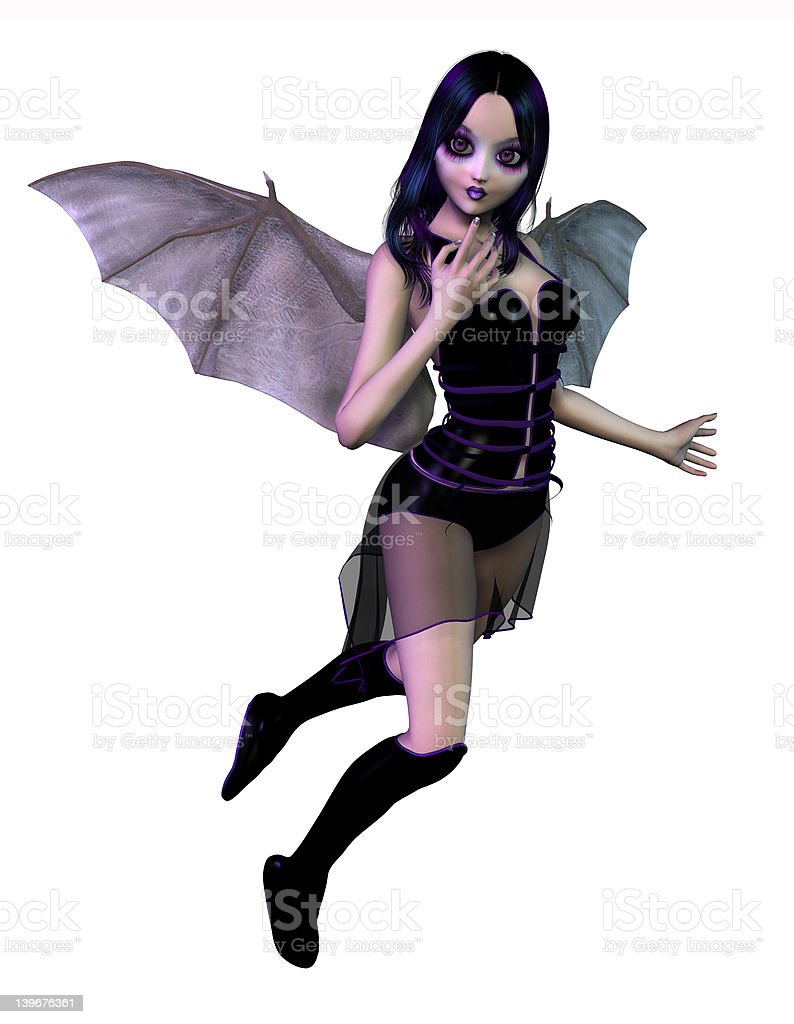 Gothic Fairy - includes clipping path stock photo