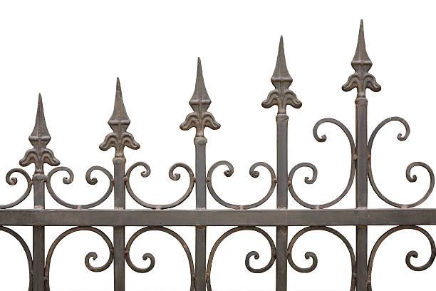 gothic fence stock photo
