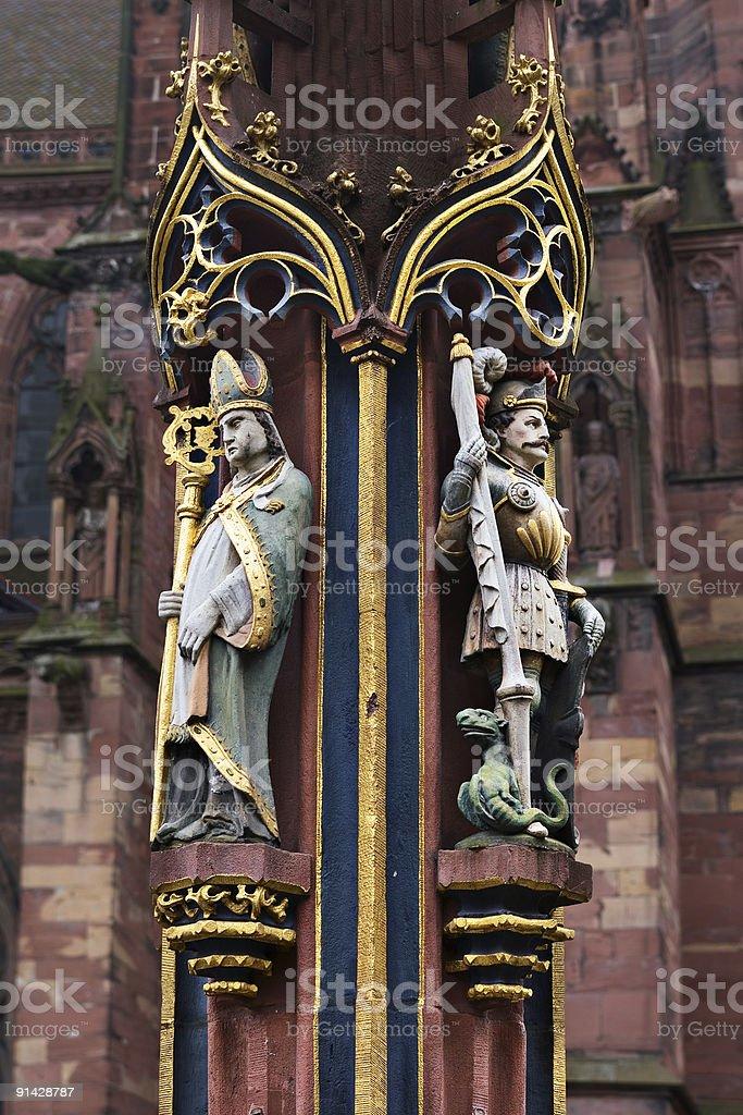 Gothic fountain fragment royalty-free stock photo