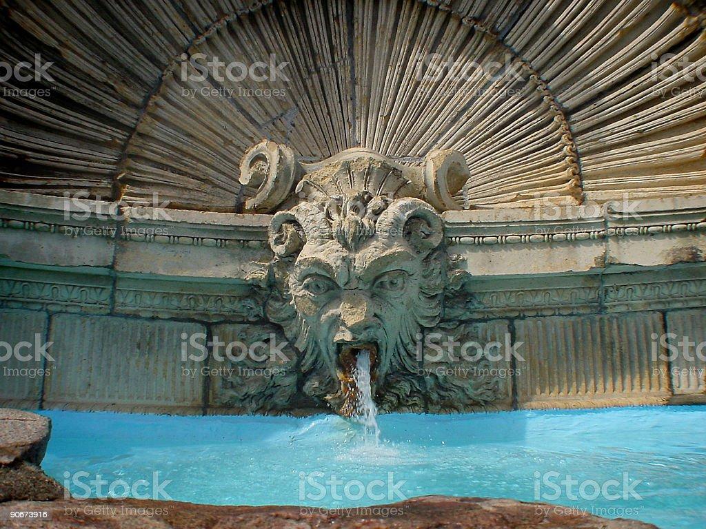 Gothic Fountain royalty-free stock photo