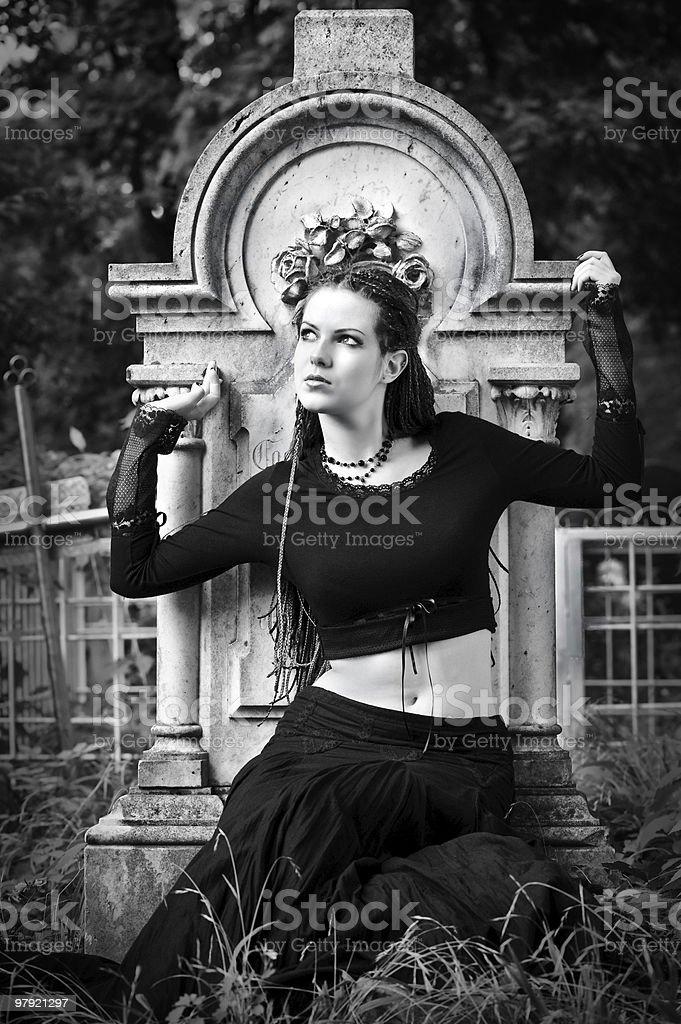 gothic girl royalty-free stock photo