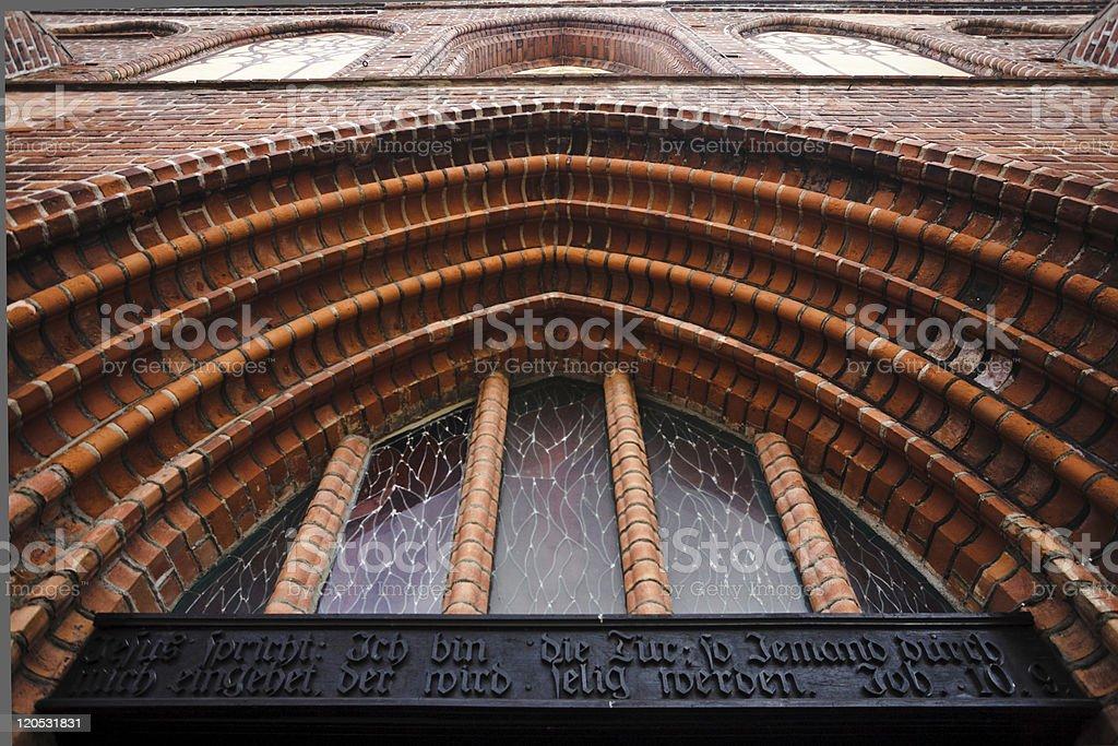 Gothic Inscription stock photo