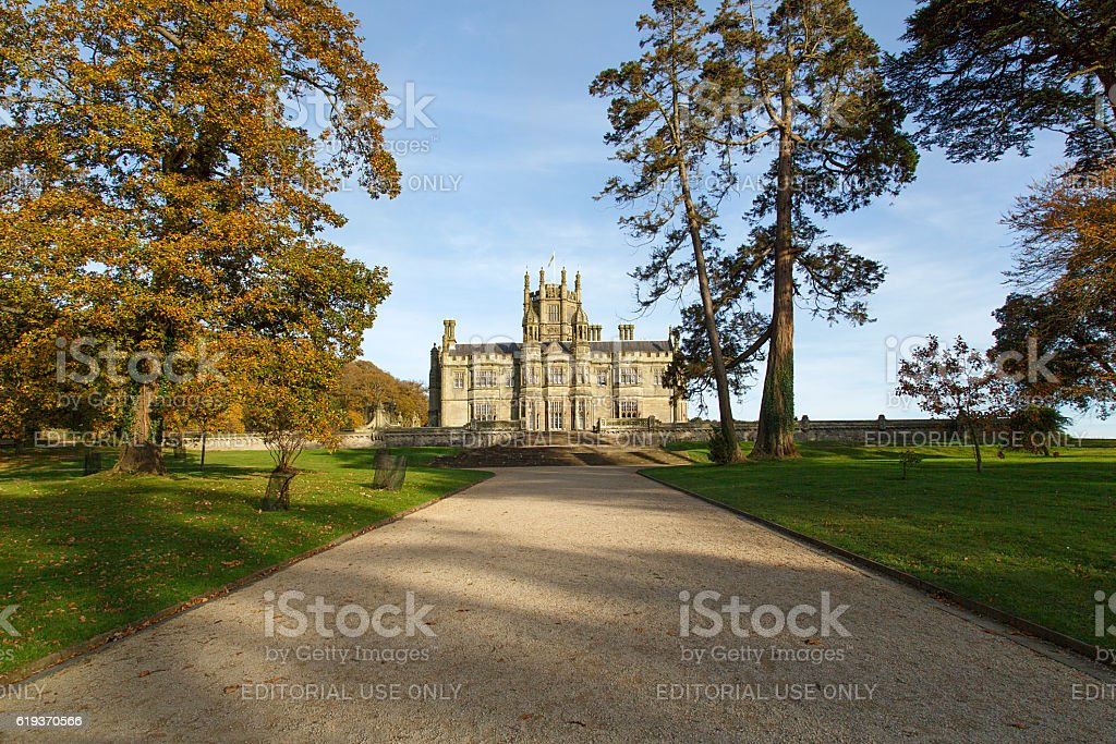 Gothic Mansion in Margam County Park stock photo