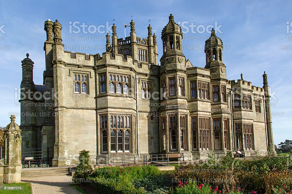 Gothic Mansion stock photo