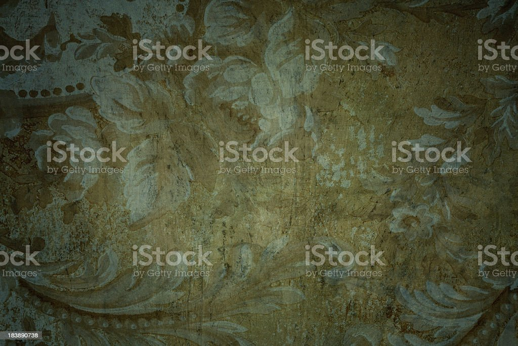 Gothic Medieval Period Looking Floral Background royalty-free stock photo