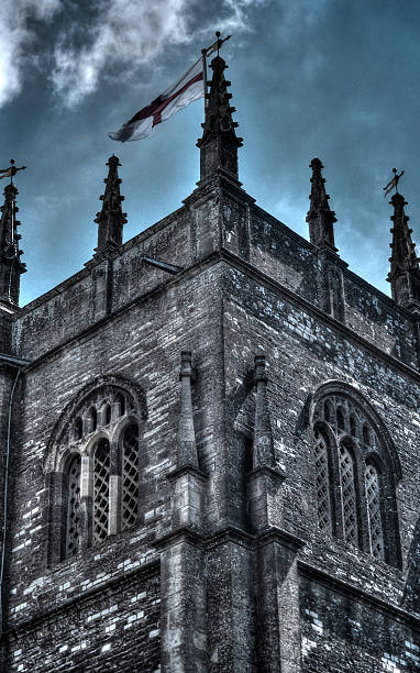 Gothic Middle Aged Castle Church stock photo