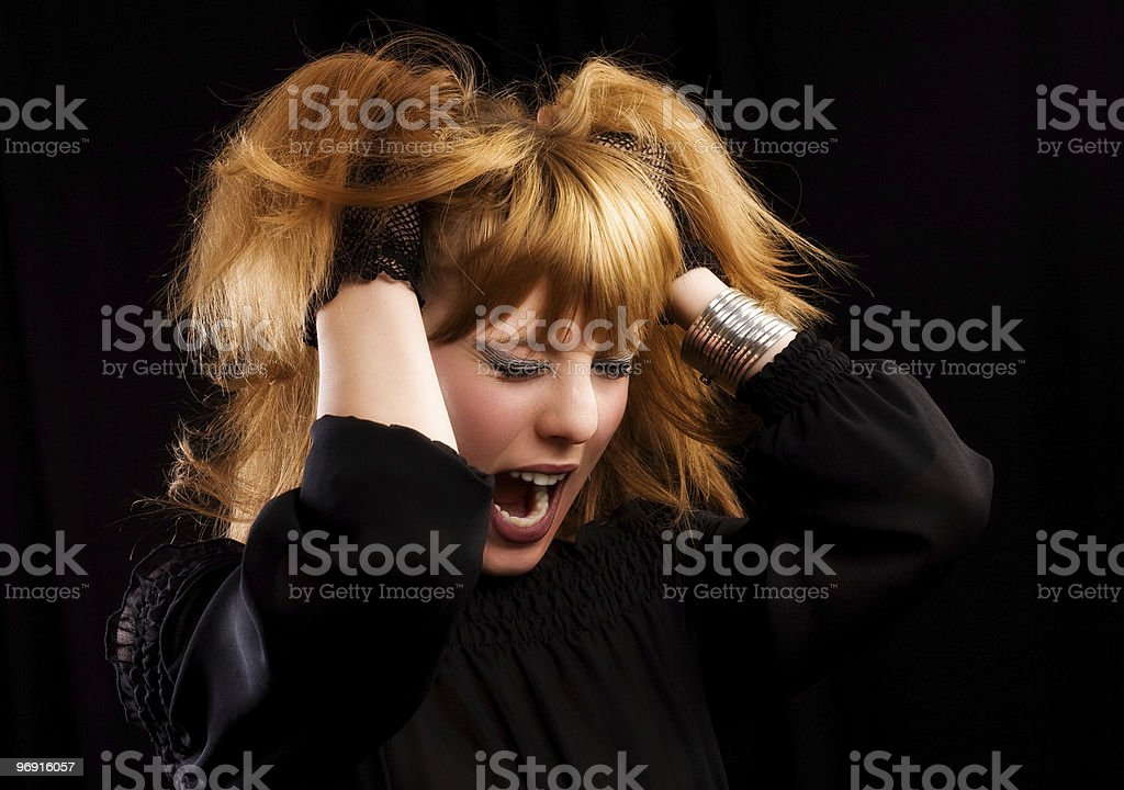 Gothic or emo girl royalty-free stock photo