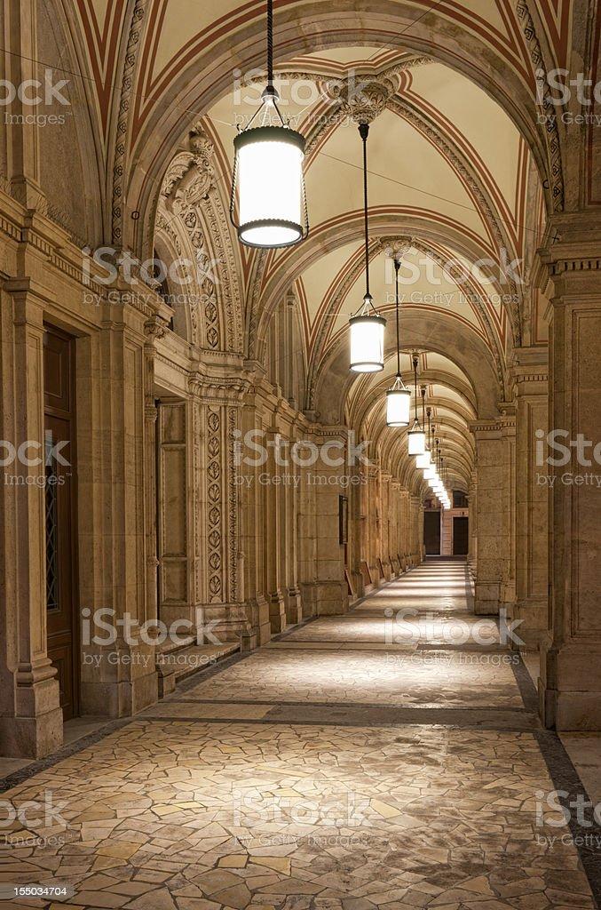 Gothic Passage - Opera House Vienna / Oper Wien (XXXL) royalty-free stock photo