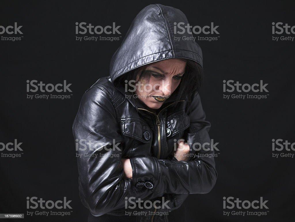 Gothic Portrait Frozen royalty-free stock photo