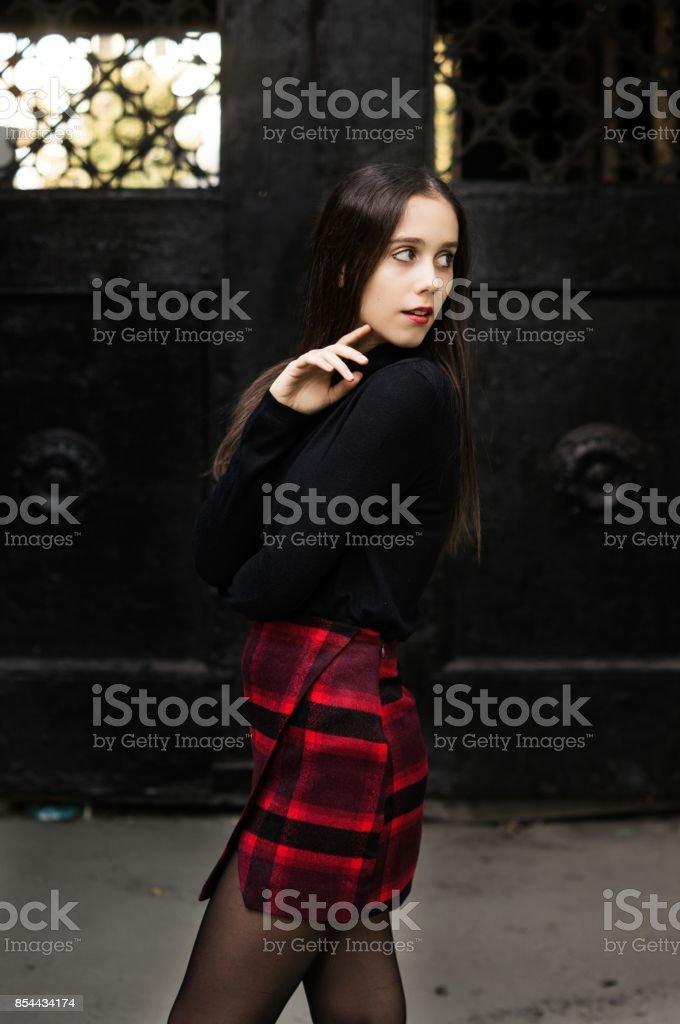 Gothic princess dark style halloween stock photo