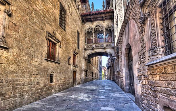 Gotische Viertel in Barcelona – Foto