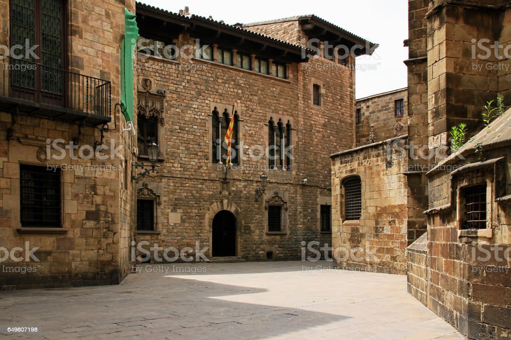 Gothic quarter in Barcelona, Spain stock photo