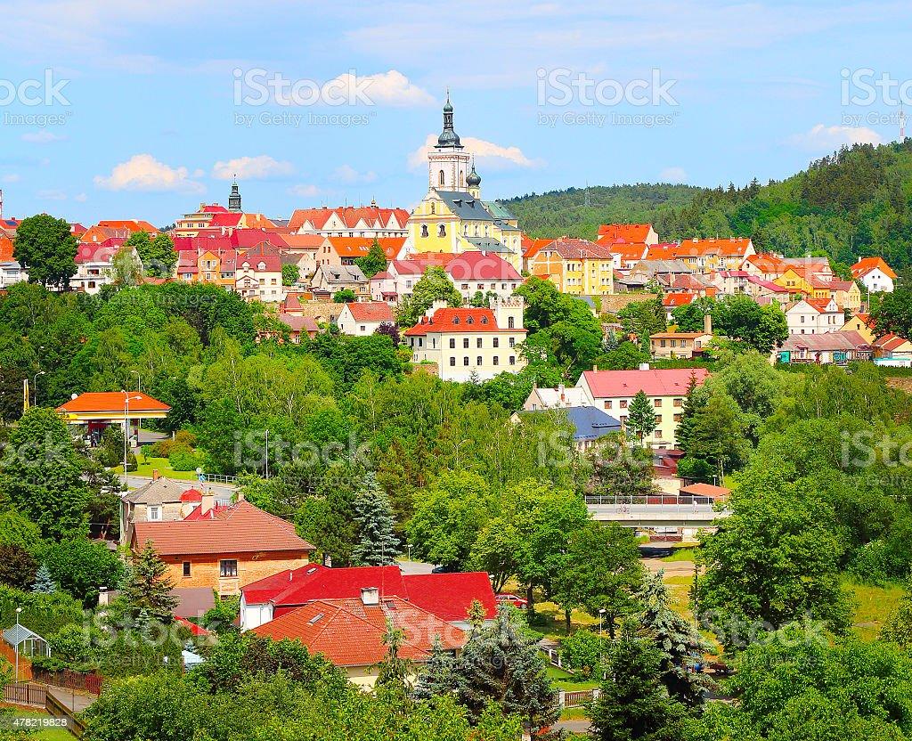 Gothic royal town Stribro. stock photo