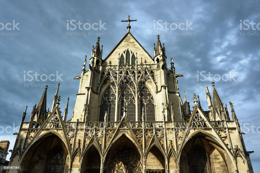 Gothic Saint-Urbain Basilica stock photo