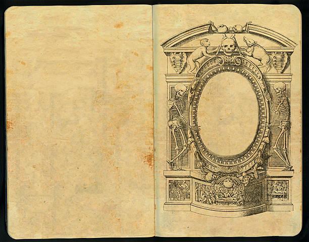 gotische skizzenblock vol ii - märchenillustrationen stock-fotos und bilder