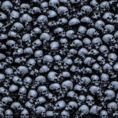 Gothic skulls background
