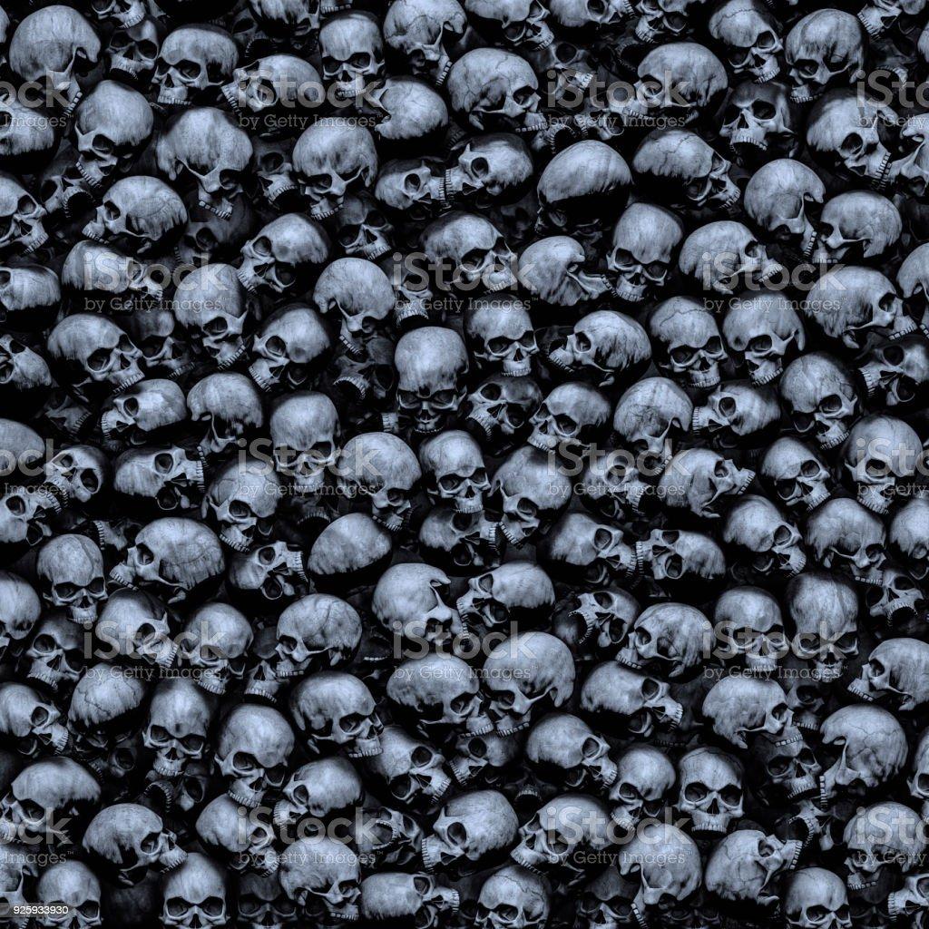 Gothic skulls background stock photo