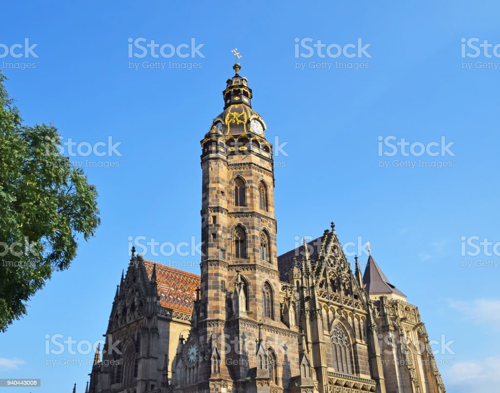 Gothic St Elisabeth Cathedral in Kosice, Slovakia stock photo