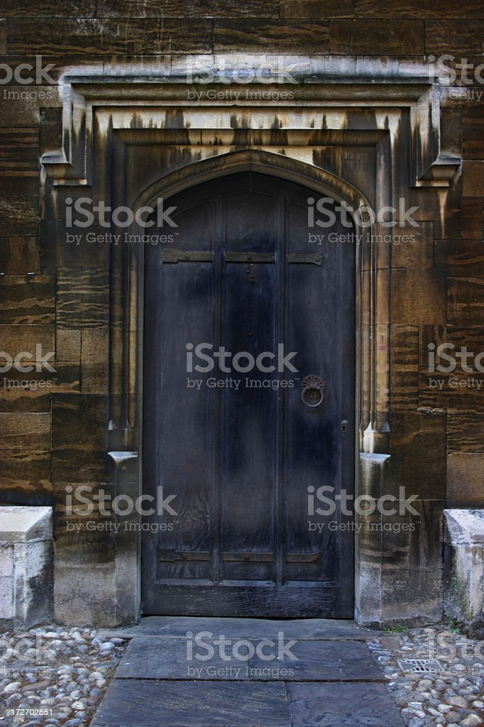 Gothic stained door royalty-free stock photo