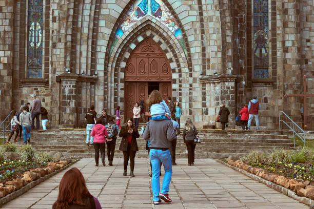 Gotische Kathedrale in der Stadt Canela. – Foto