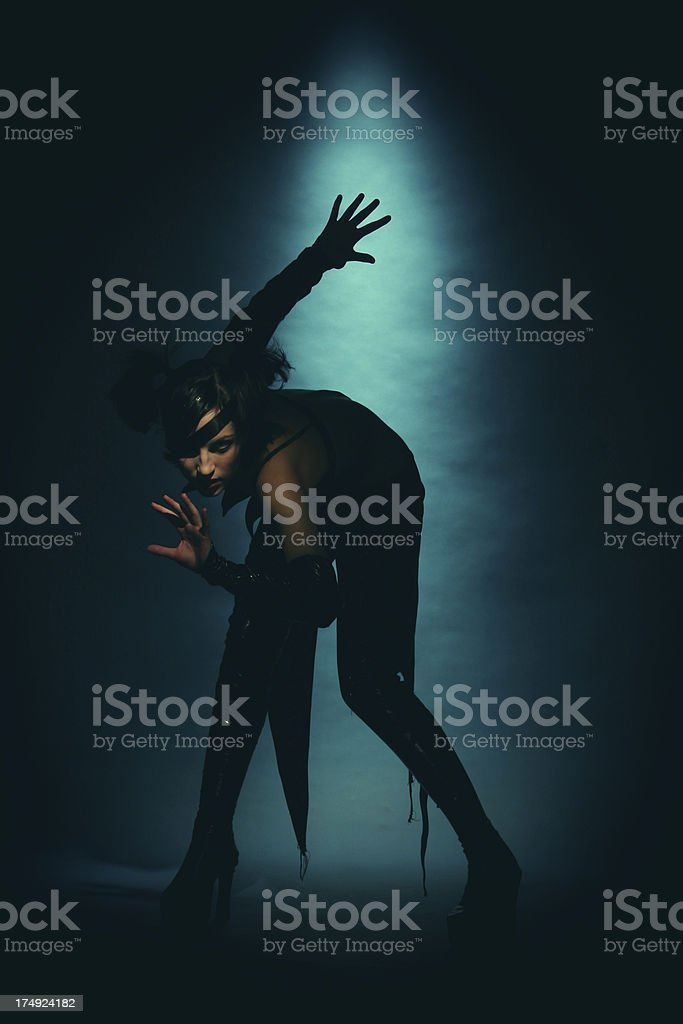 Gothic style. The punk`s fashion stock photo