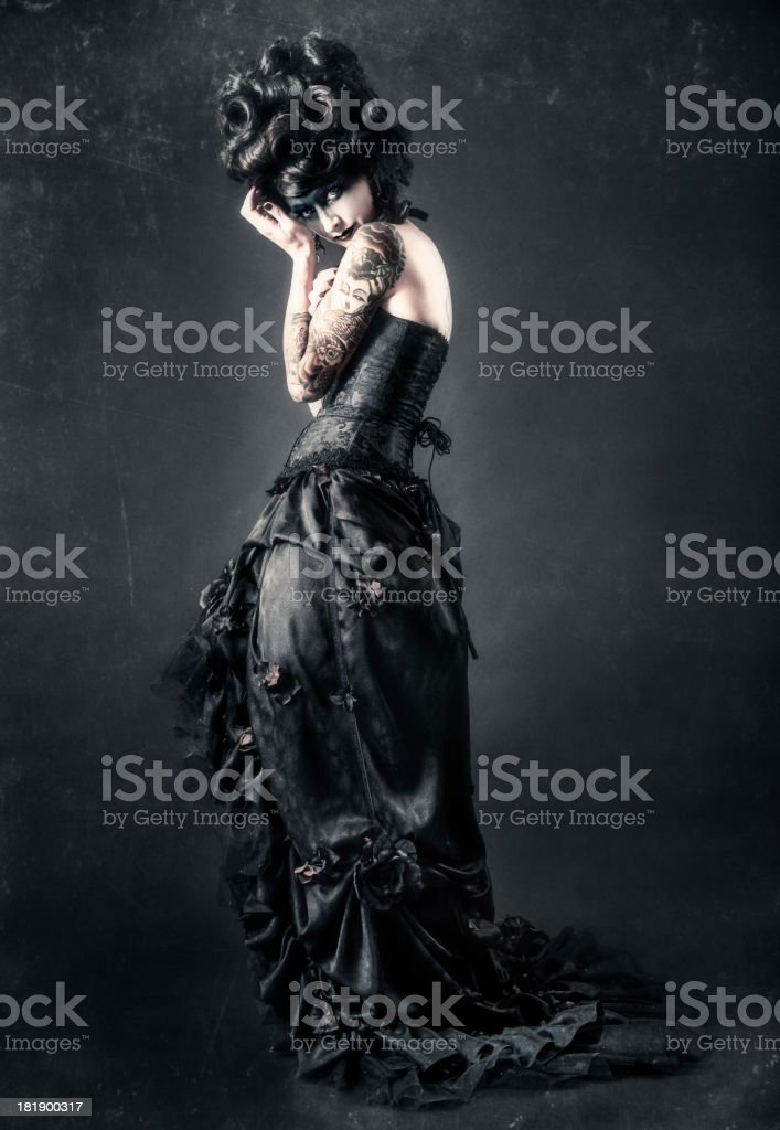 Gothic Victorian Fashion royalty-free stock photo