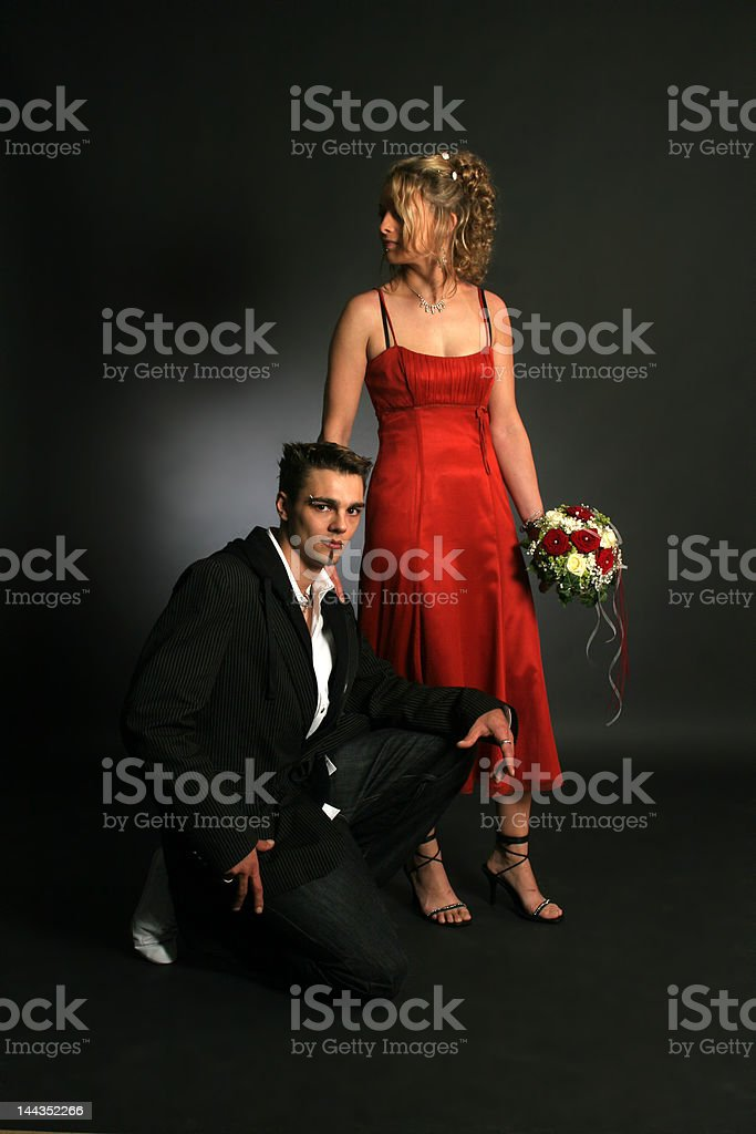 Gothic Wedding royalty-free stock photo