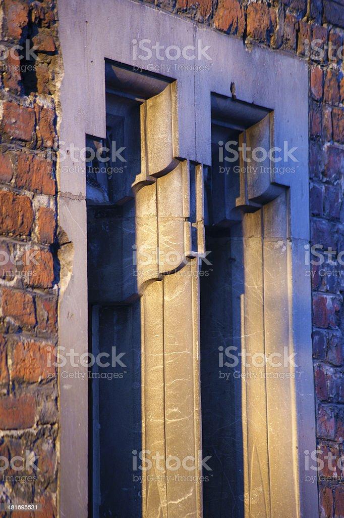 Gothic window stock photo