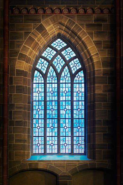 gothic window - gothic style stock pictures, royalty-free photos & images