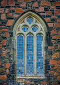 Gothic window detail on Iona Abbey