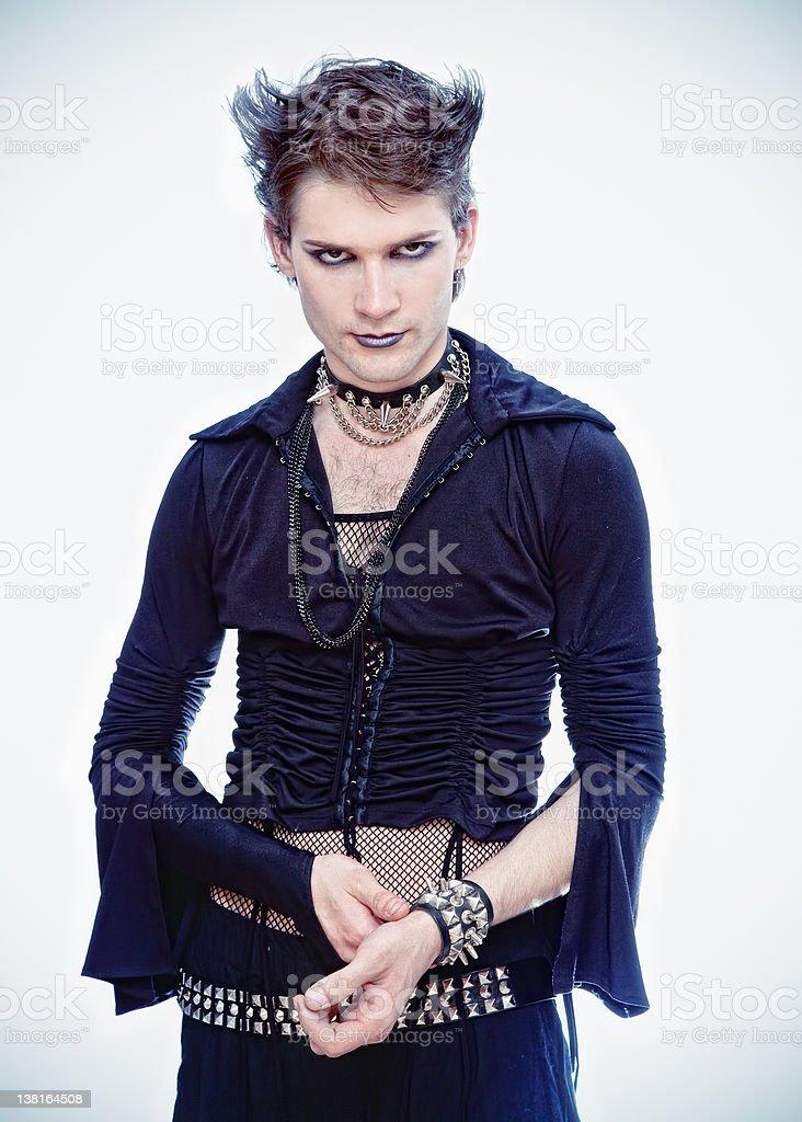 goth-style man stock photo