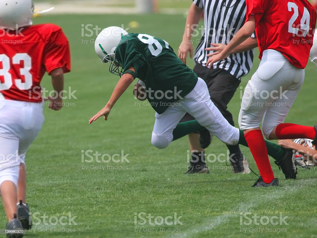 Got'm By The Heel! (American Football) stock photo
