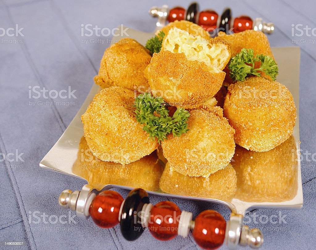 Gouda balls stock photo