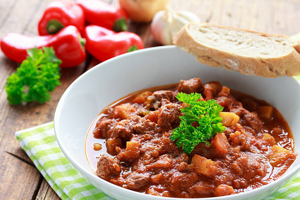 Gulaschsuppe stock photo