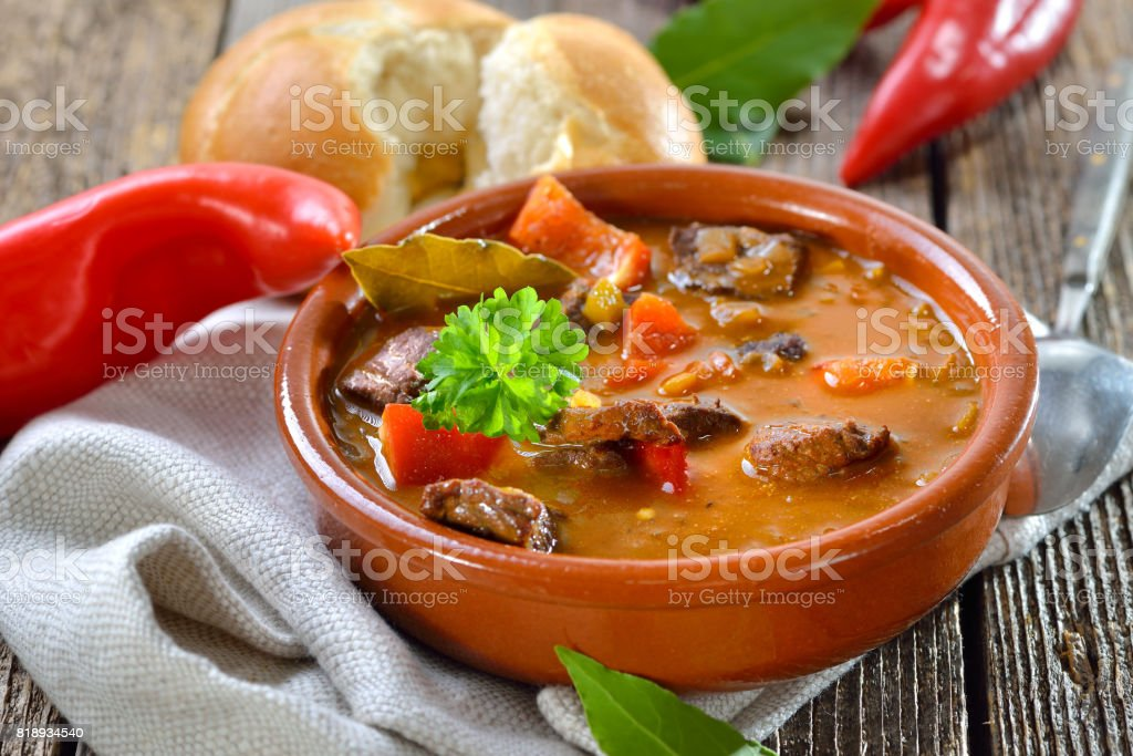 Goulash soup stock photo