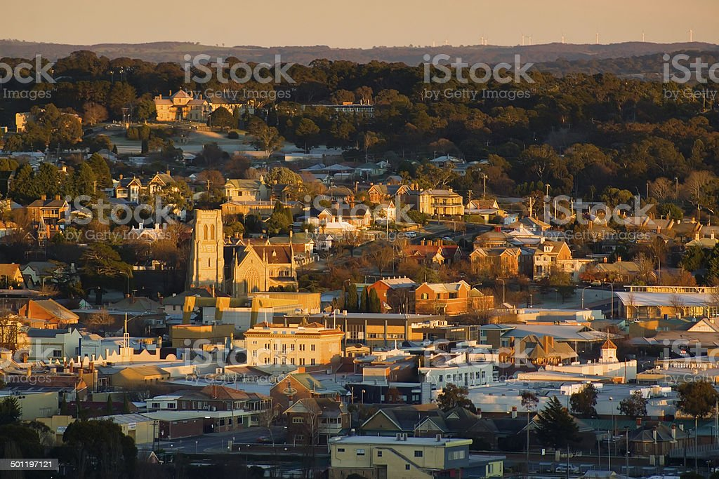 Goulburn Sunrise stock photo