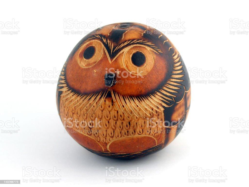 Gourd owl royalty-free stock photo