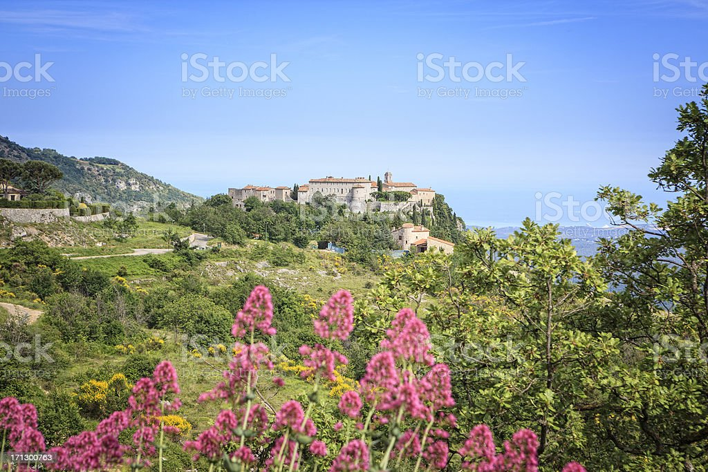 Gourdon, French Riviera, France royalty-free stock photo