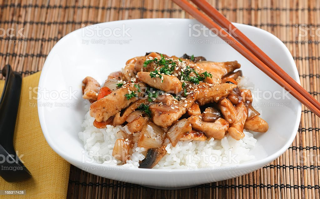 Gourmet asian style dinner royalty-free stock photo