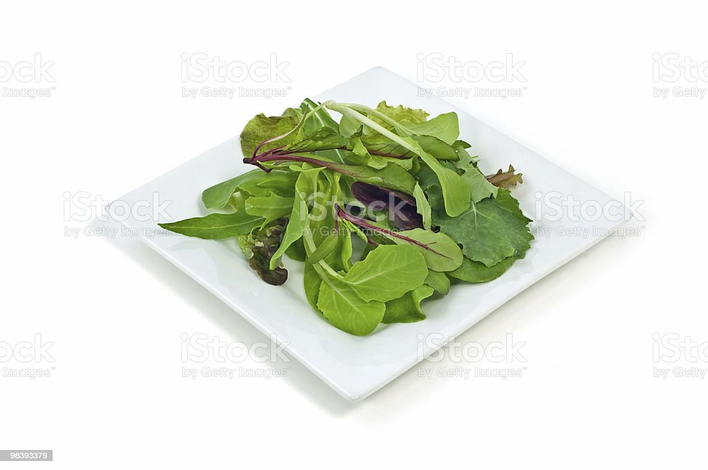 Gourmet baby greens royalty-free stock photo