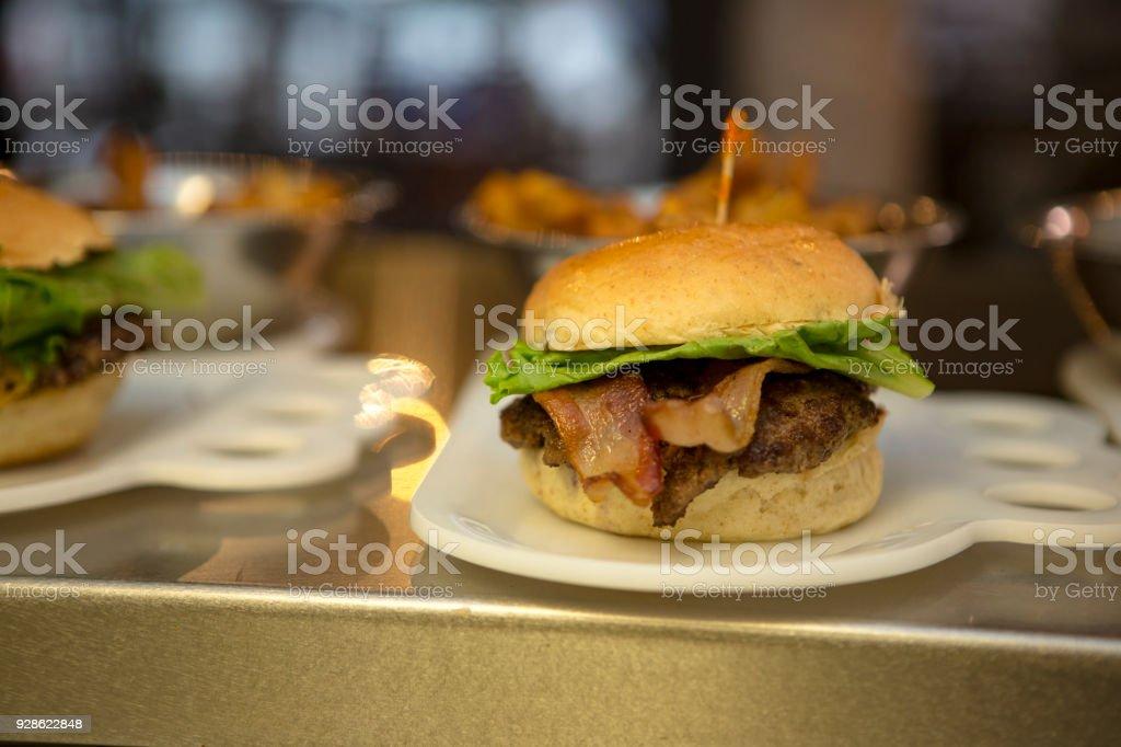 Gourmet Bacon Burger stock photo